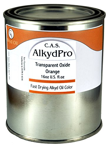 C.A.S. Paints AlkydPro Fast-Drying Oil Color Paint Can, 16-Ounce, Transparent Oxide Orange