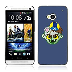 A-type Arte & diseño plástico duro Fundas Cover Cubre Hard Case Cover para HTC One (M7) ( El zombi divertido Ilustración )