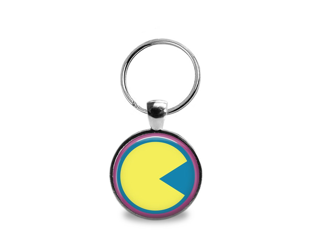Pac-Man Keychain; Key Fob