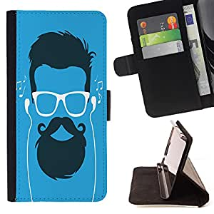 King Case - FOR HTC One M7 - you sell kids - Prima caja de la PU billetera de cuero con ranuras para tarjetas, efectivo Compartimiento desmontable y correa para la mu?eca