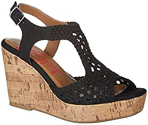 upc 885044679500 product image for Jellypop Women's Vilnius Crocet Wedge Black 7 B(M) US | barcodespider.com