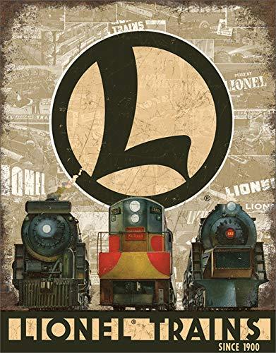 Desperate Enterprises Lionel Trains Legacy Tin Sign, 12.5