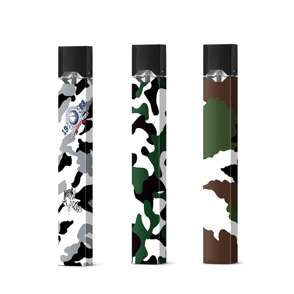 Juul Skin Sticker 3 Pack Camouflage Printed Vinyl Skin Wrap Decal Compatible for Juul