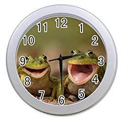 Dong Cun Bai two Frog Personalized custom alarm clock for children bedroom Custom Wall Clock black Unique Custom Wall Clock