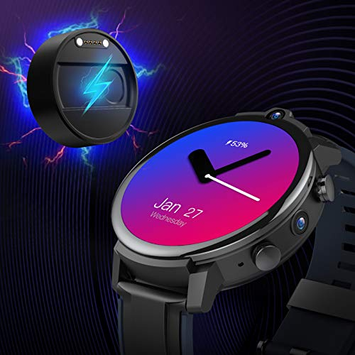 "4G Andriod Smart Watch, GPS Android Smartwatch, 4G LTE with 1.6"" Touch Screen,IP67 Waterproof Sport Watch,Face Unclok Phone Watch with 3GB+32GB Andriod Watch for Men"