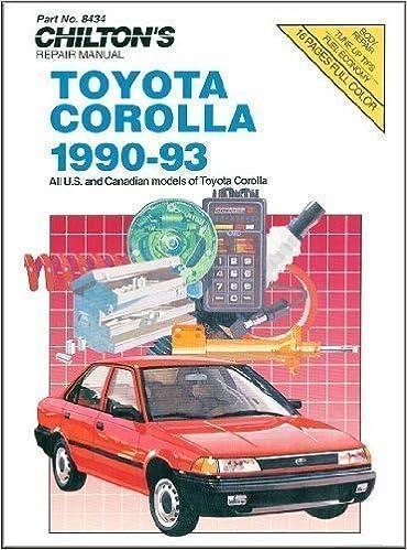 chilton auto manual 1991 toyota corrolla