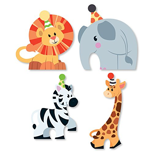 Zoo Set Die (Big Dot of Happiness Jungle Party Animals - DIY Shaped Safari Zoo Animal Birthday Party or Baby Shower Cut-Outs - 24 Count)
