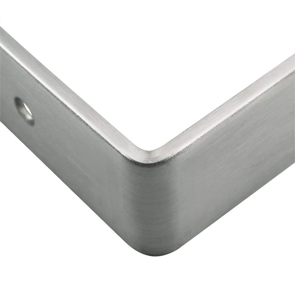 Box Brushed Nickel Joint Fastener Howhome Corner Braces Stainless Steel L Shaped Right Angle Brackets 100x100x3mm Pack of 4 Shelf Support for Desk Edge