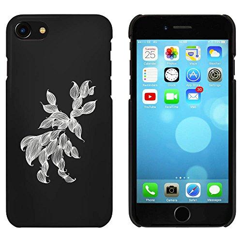 Noir 'Feuilles Tombantes' étui / housse pour iPhone 7 (MC00078929)