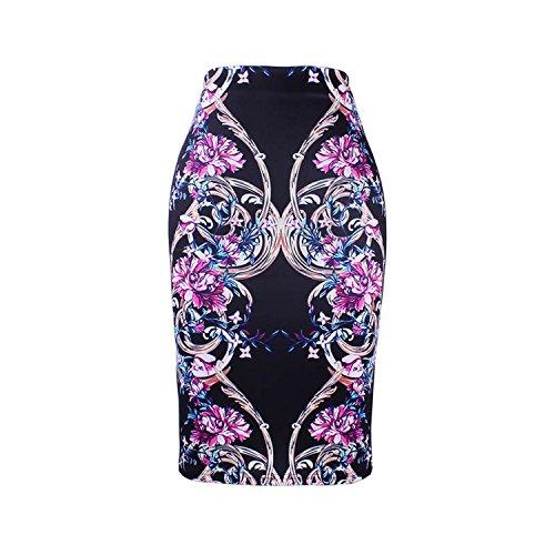 M Bas XXL Crayon Dames Filles Bodycon Femmes Slim Print 14 Mode Jupes Faldas Saias Femme Jupes Floral ZSYzq0