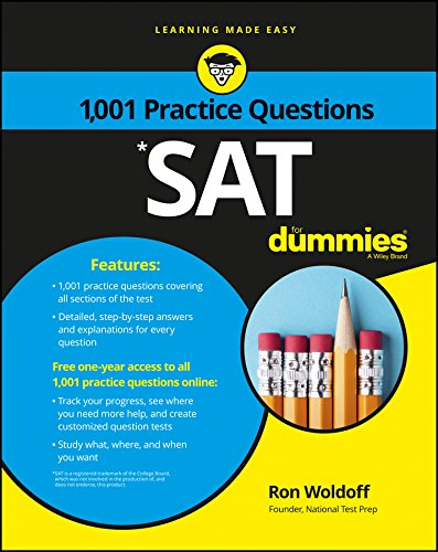 1,001 SAT Practice Questions for Dummies (1st 2016) [Woldoff]