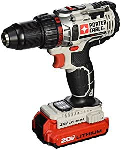 PORTER-CABLE PCC606LA 20-Volt 1/2-Inch Lithium-Ion Drill/Driver Kit (One Battery)