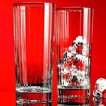 - Home Essentials Red Series Striped 14oz Hiball