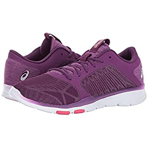 ASICS Women's Gel-Fit Tempo 3 Cross Trainer, Prune/Silver/Rouge Red, 9 Medium US