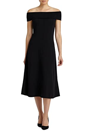 Lafayette Off The Shoulder Sweater Dress Black P Ps At Amazon