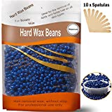 Depilatory Wax Beads - Auperwel Hard Wax Beans Hard Body Wax Beans, Hair Removal Brazilian Pearl Depilatory Wax European Beads for Women Men 300g/10oz