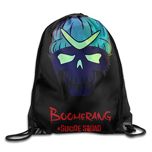 FFuture Suicide Squad Boomerang Gym Drawstring Backpack Sport Bag