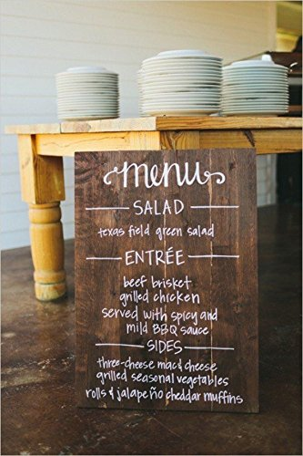 custom wedding dinner menu rustic wedding decor bridal shower engagement party menu