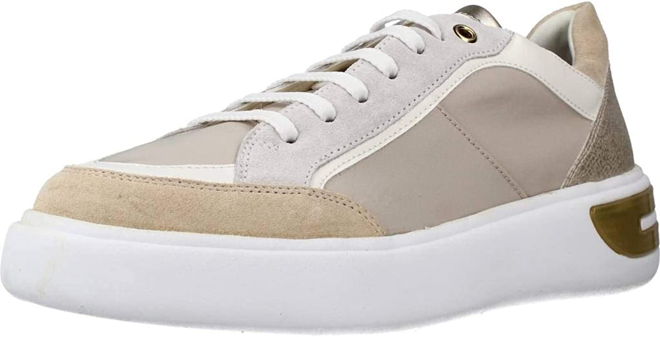 Details about  /Geox D Blomiee A Womens Fashion Trainers Zipper Lace Up Shoes Chestnut