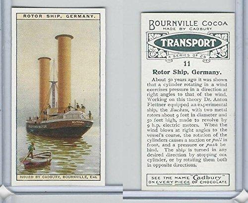 C0-0 Cadbury Chocolate, Transport, 1925, 11 Rotor Ship, Germany