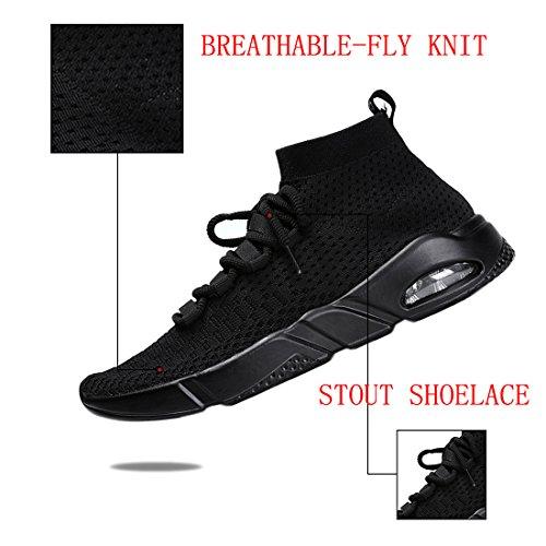 KRIMUS Adulto Deporte Zapatillas 2 Unisex de Negro C6xr60Zqvw