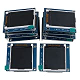 Mxfans 10Piece 1.8'' Serial LCD Module Display 262K Screen PCB Adapter 3.4x4.7cm Cover