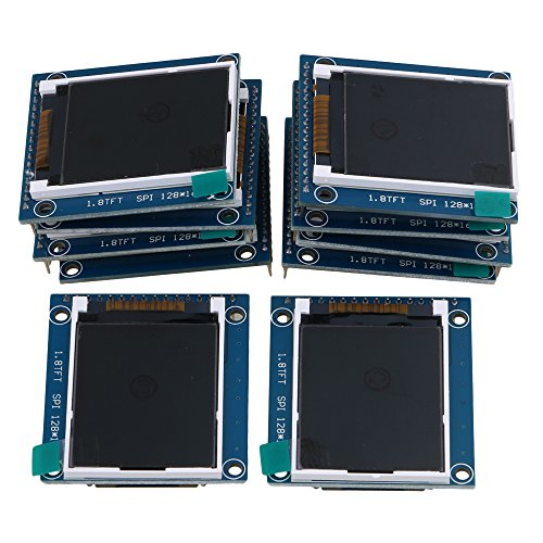 Mxfans 10Piece 1.8'' Serial LCD Module Display 262K Screen PCB Adapter 3.4x4.7cm Cover by Mxfans