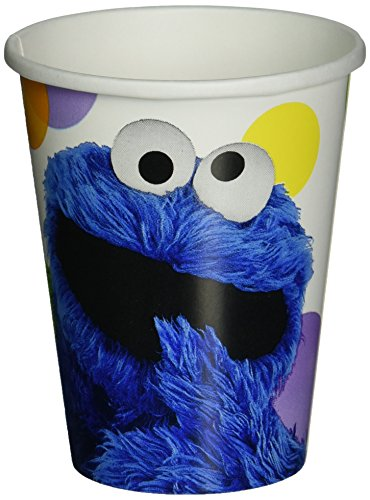 Amscan Sesame Street Paper Cups, 9-Ounce, Multicolor for $<!--$3.95-->