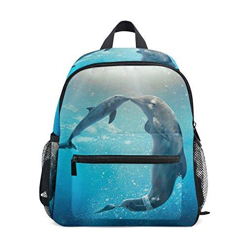 GIOVANIOR Kiss Dolphin Tale Travel School Backpack for Boys Girls Kids ()