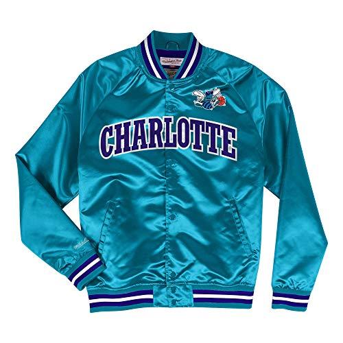 Mitchell & Ness NBA Charlotte Hornets Lightweight Satin Jacket (Blue, XS)