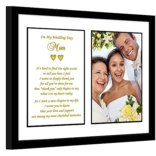 Wedding Thank You Gift for Mother of the Bride or Groom - Poem for Mom in 8x10 Inch Frame with Photo Area