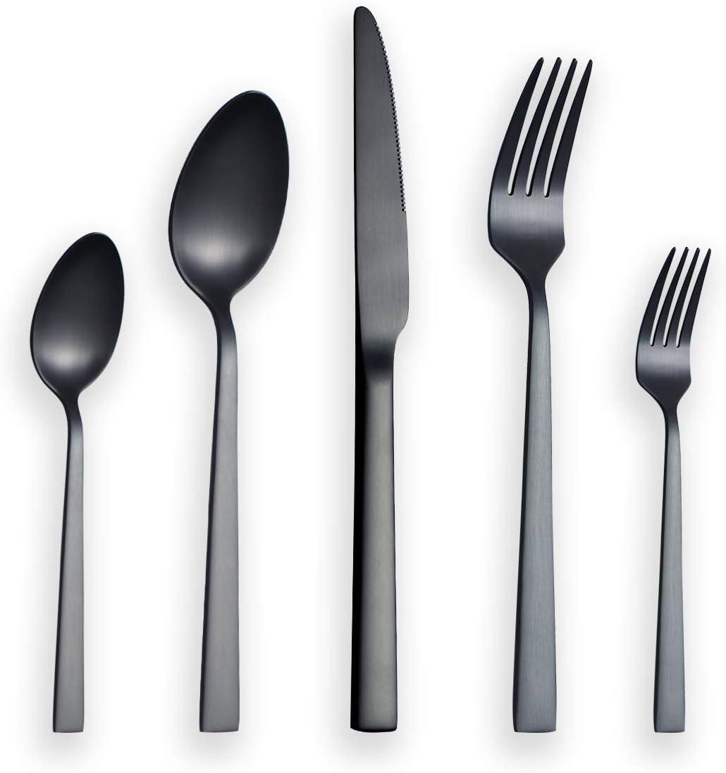 Berglander 30 Stück Titanium schwarz plattiert Besteck 30 Stück schwarz Beste