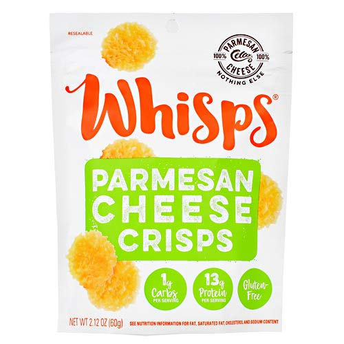 Cello Whisps 100% Parmesan Cheese Crisps and Chips Snack Bags (12 pack, 2.12oz)
