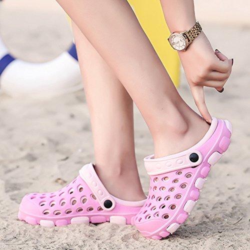 donna scarpe donne fresche da sandali spiaggia Pantofole scarpe Codice rosa antiscivolo estate buco paio antiscivolo 38 nido grande d'uccello FpCaE