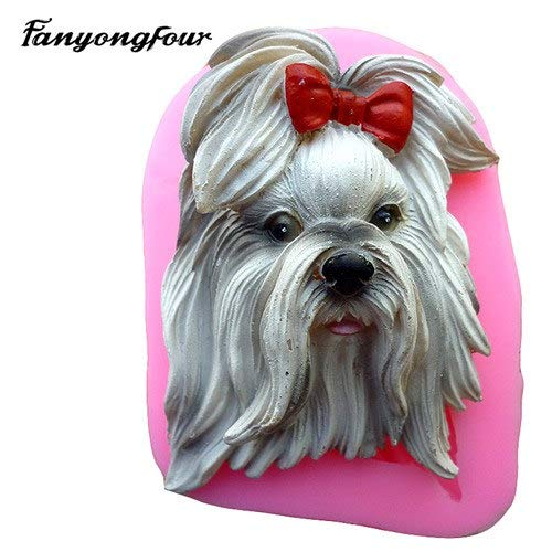 1 piece World famous dog turn sugar cake mold silicone mold chocolate mold soap soap candle ()