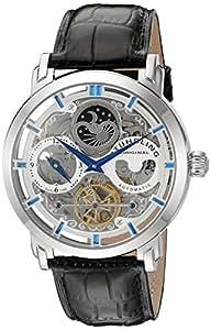 Stuhrling Original Men's 371.01 Legacy  Automatic Self Wind Black Genuine Leather Strap Watch