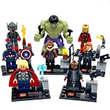 Avengers: Age of Ultron: Ultimate Ultron , Hawkeye , Hulk , Thor , Captain America , Iron Man , Nick Fury , Black Widow Building Block Compatible with Lego 8 Pcs