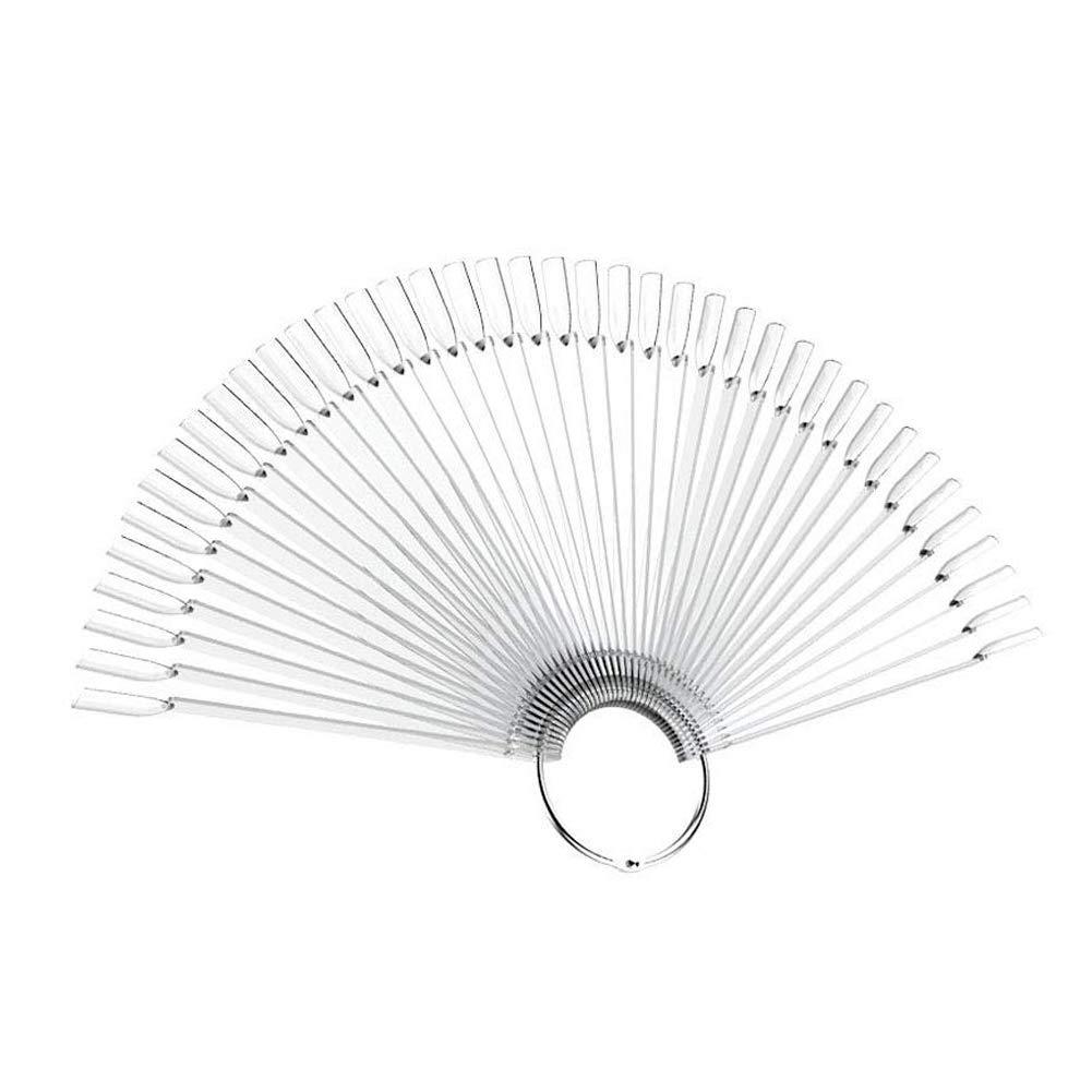 Ruiting Klar Transparent falsche Nagel Kunst Polnisch Anzeige Praxis Fan Bordwerkzeugsatz mit Metallring Beauty Misc