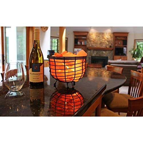 Manhattan Comfort Accentuations by 9-inch Himalayan Wired Basket Lamp with Natural Rocks by Manhattan Comfort (Image #3)