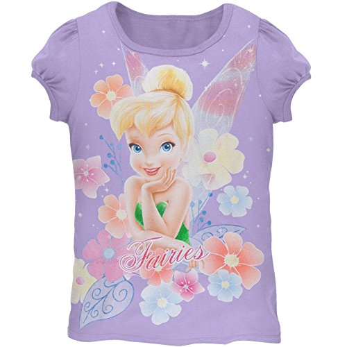 (Old Glory Tinkerbell - Girls Pretty Face Girls Juvy T-shirt Juvy 5 Purple)