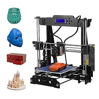 Kit de impresora 3D, modelo P802M, de Leshp, con extrusor acrílico de alta precisión, para montar