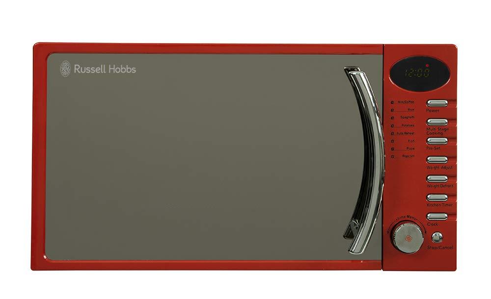 Russell Hobbs microondas digitales, simple de 17 litros, RHM1714RC (rojo)
