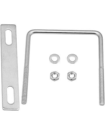 BQLZR Tornillo de rosca M8 de 85 mm de ancho interior de acero inoxidable plateado con tuercas y arandelas rectangulares para fijaci/ón de tuber/ías