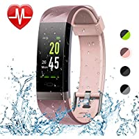 Letsfit Fitness Tracker Color Screen HR, Heart Rate...