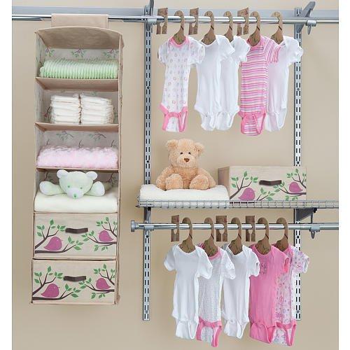 DELTA Eco Nursery Closet Set 20-Pieces - Pink SS2027-688