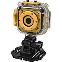 Precision Design K1 Kids HD Action Camera Camcorder (Yellow/Black) with Helmet & Bike / Handlebar Mounts