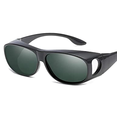 b9ce218eb7 Baitaihem Polarized Solar Shield Fit Over Glasses Driving Sunglasses for  Driving Flying Boating Fishing and Snowing