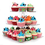 weddingwish 3 Tier Square Clear Acrylic Cupcake Stand … …