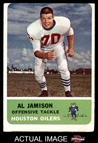 1962 Fleer # 50 Al Jamison Houston Oilers (Football Card) Dean's Cards 2 - GOOD Oilers (Oilers 1962 Houston)