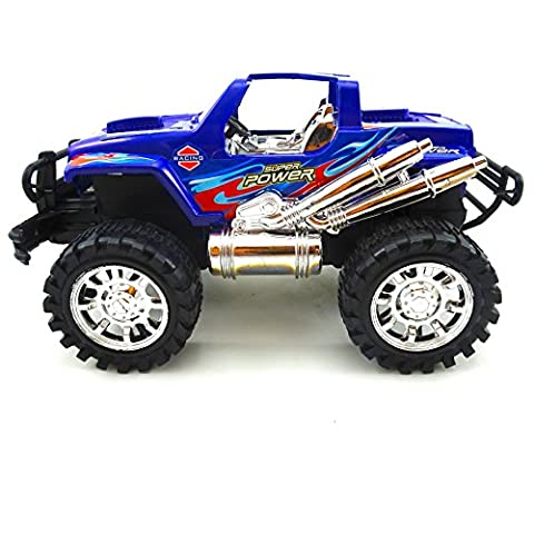 Toy Friction Monster Truck Toy For Kids Blue or Red Off Road Truck - Red Monster Truck